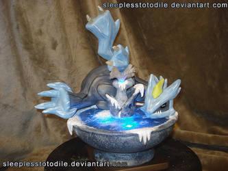 Ice dragon sleepin' (PMDe: M5 Prize) by SleeplessTotodile
