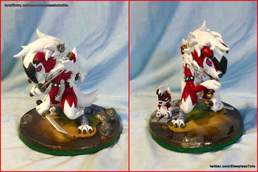 Raxus the Lycanroc Sculpture by SleeplessTotodile