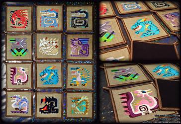 Monster Hunter Coasters by SleeplessTotodile