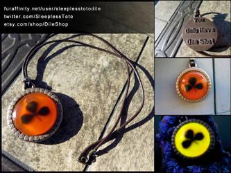 Black Clover Pendant from OneShot by SleeplessTotodile