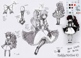 sketchs: New Dress for Pause by TakkuNoTori