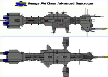 Omega Phi Class Advanced Destroyer by MarcusStarkiller