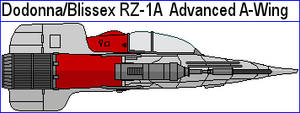 Dodonna Blissex RZ-1A  Advanced A-Wing by MarcusStarkiller