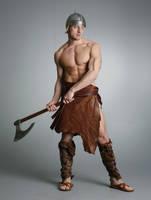 Teaser: Barbarian Warrior by mjranum-stock