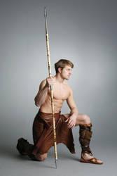 Barbarian Warrior - 22 by mjranum-stock