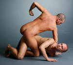 Wrestlers - 1 by mjranum-stock