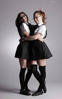 Bad Schoolgirls - 4 by mjranum-stock