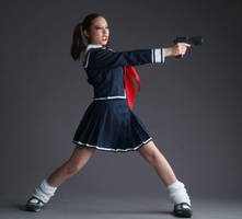 Gunslinger School Girl by mjranum-stock