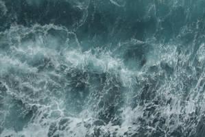 Turbulent water by mjranum-stock