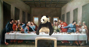 Last Panda Supper by Clint by Pandashopping