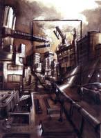 Futuristic City by Adam-Varga