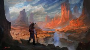 The Hiker by Adam-Varga
