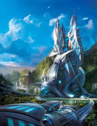 Scifi City by Adam-Varga