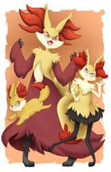 Fire Pokes by bunnydeux