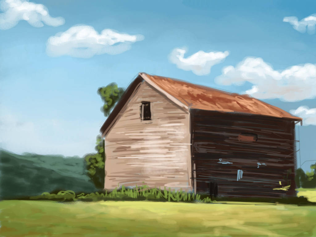 Barn sketch (35 min) by TheMaddhattR