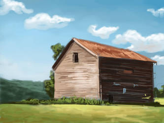 Barn sketch (35 min) by TheMaddhattR