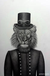 Steampunk Lion by GSkills