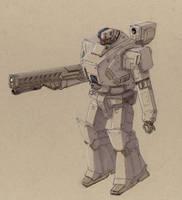 Conudyne Grendel Powered Armor by Jepray