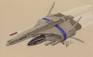 Saber-class heavy fighter by Jepray