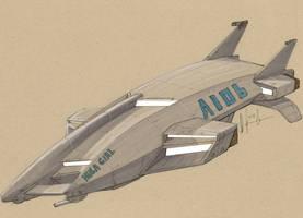 ATT-36 Harbinger Assault Dropship by Jepray
