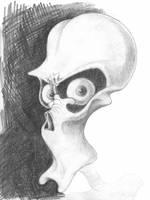 Alienhead by Krow-Trayllis