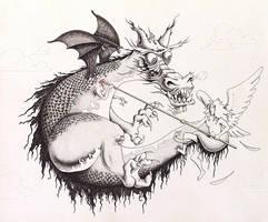 Dragon by Krow-Trayllis