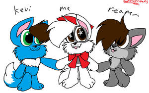 The three pups by Supersprite65