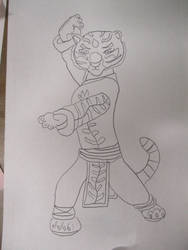 Tigress Lineart 7-11-18 by Flood7585