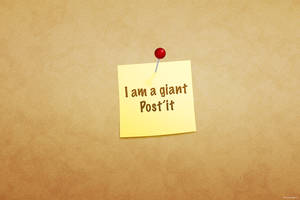 I am a giant post'it by kevinandersson