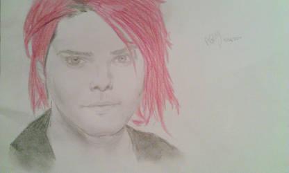 Gerard Way pencil sketch by AnnieRG