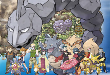 Kanto gym leaders and their signature Pokmon by MikeyMan101