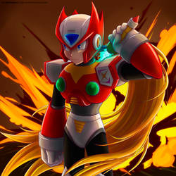 Cool reploids don't look at explosions! by Ayla-Kazemi
