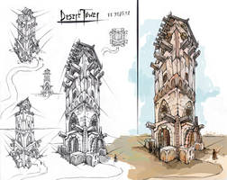 Desert Tower by Zayrot