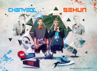 Chanyeol and Sehun by jenysa971