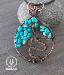 Turquoise Tree Of Life Pendant by jenysa971