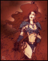Red Sonja colored by darylosaurus
