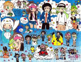 Pokemon BW doodles by Bokumono