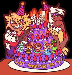 ONE EVIL YEAR LATER !!! by hebitonetsu