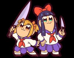 KNIFE BUDDIES!!!!!!!!!!! by hebitonetsu
