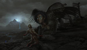 The Judgement of the Sphinx by EranFowler