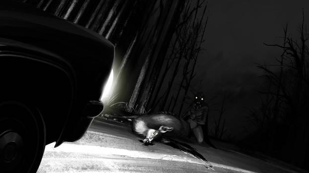 The Mothman Encounter by EranFowler