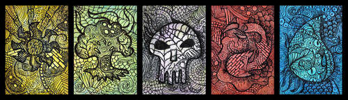 Magic the Gathering Zentanlge Mana Symbol ATCs by hell0z0mbie