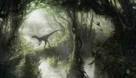 Dino in forest by LyntonLevengood