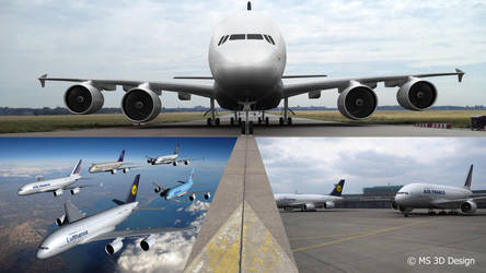 A380 Collage by Sparmi