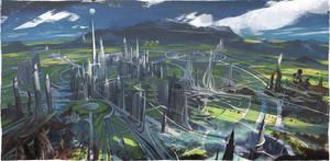 Tomorrowland Environment by vyle-art