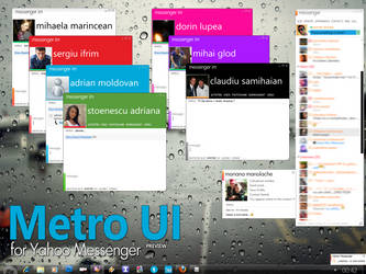 Metro UI for Yahoo Messenger by alkhan