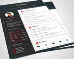 Material Style Resume/CV Set  (Downloadable) by rakibsarowar
