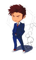 Chibi Tenth Doctor by tribute27