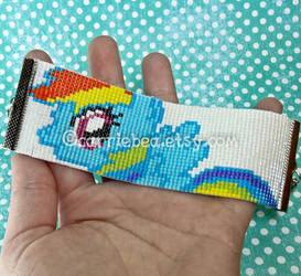 MLP:FIM Rainbow Dash Beaded Bracelet by CarrieBea