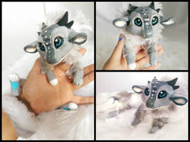 Clockwork Handmade Poseable dragon by KaypeaCreations
